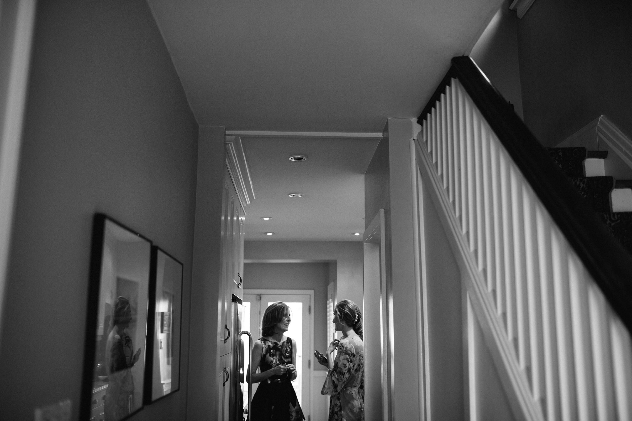 bride and her mother, bride getting ready, berkeley church wedding, toronto wedding photographer