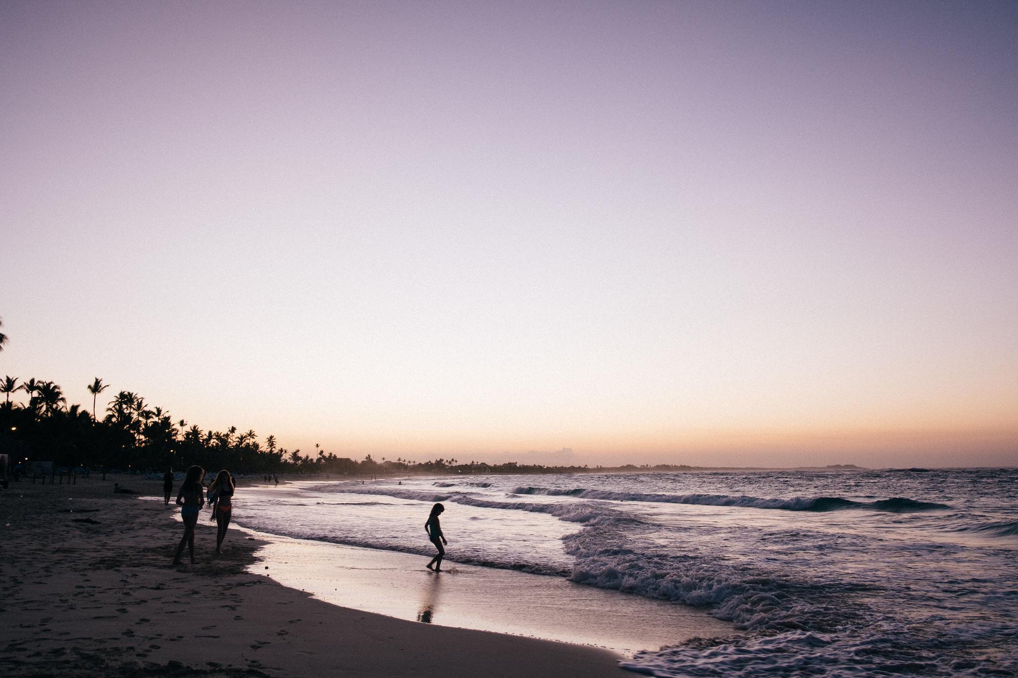 Sunset bavaro beach, punta cana, royalton
