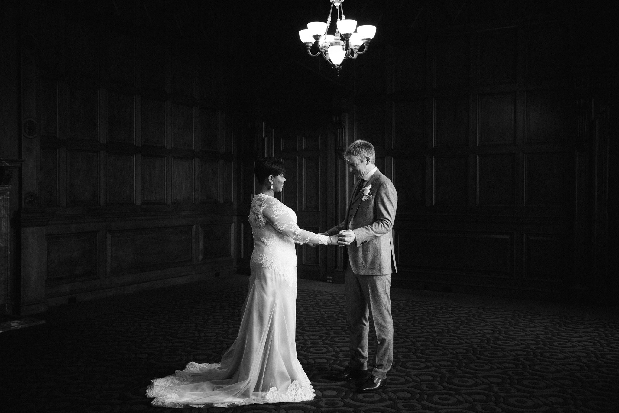 first look one king west wedding