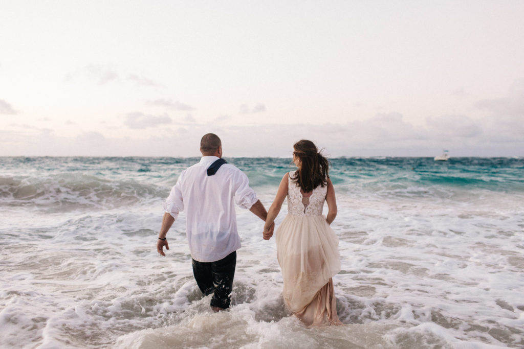 punta cana, destination wedding photographer, trash the dress