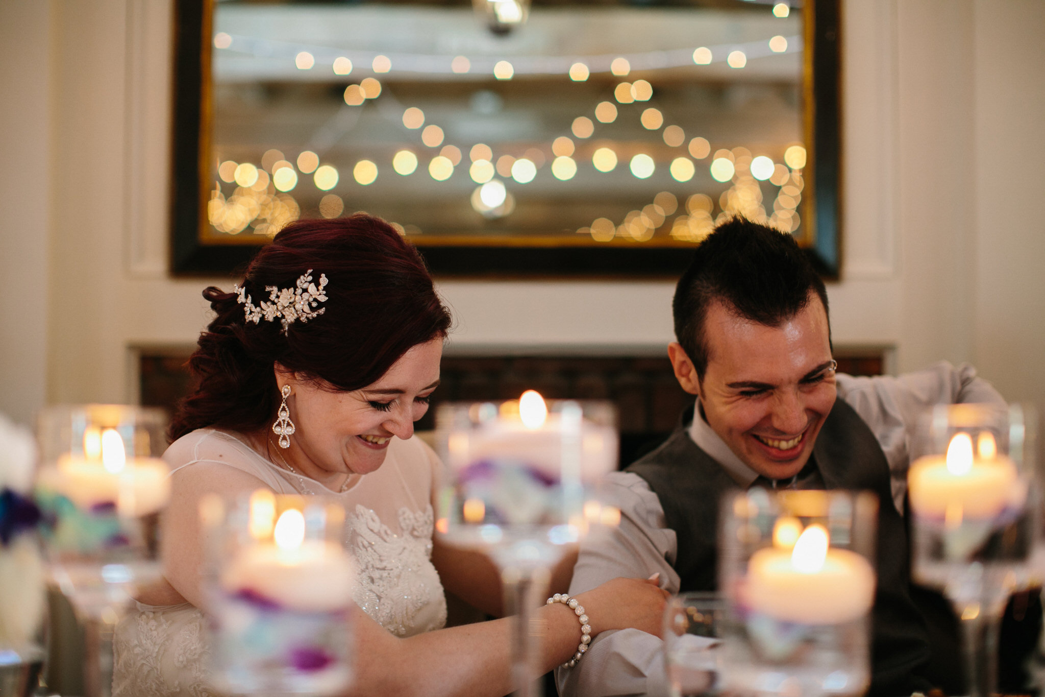 doctors house wedding, kleinburg wedding, toronto wedding photographer, string lights, candle table decor