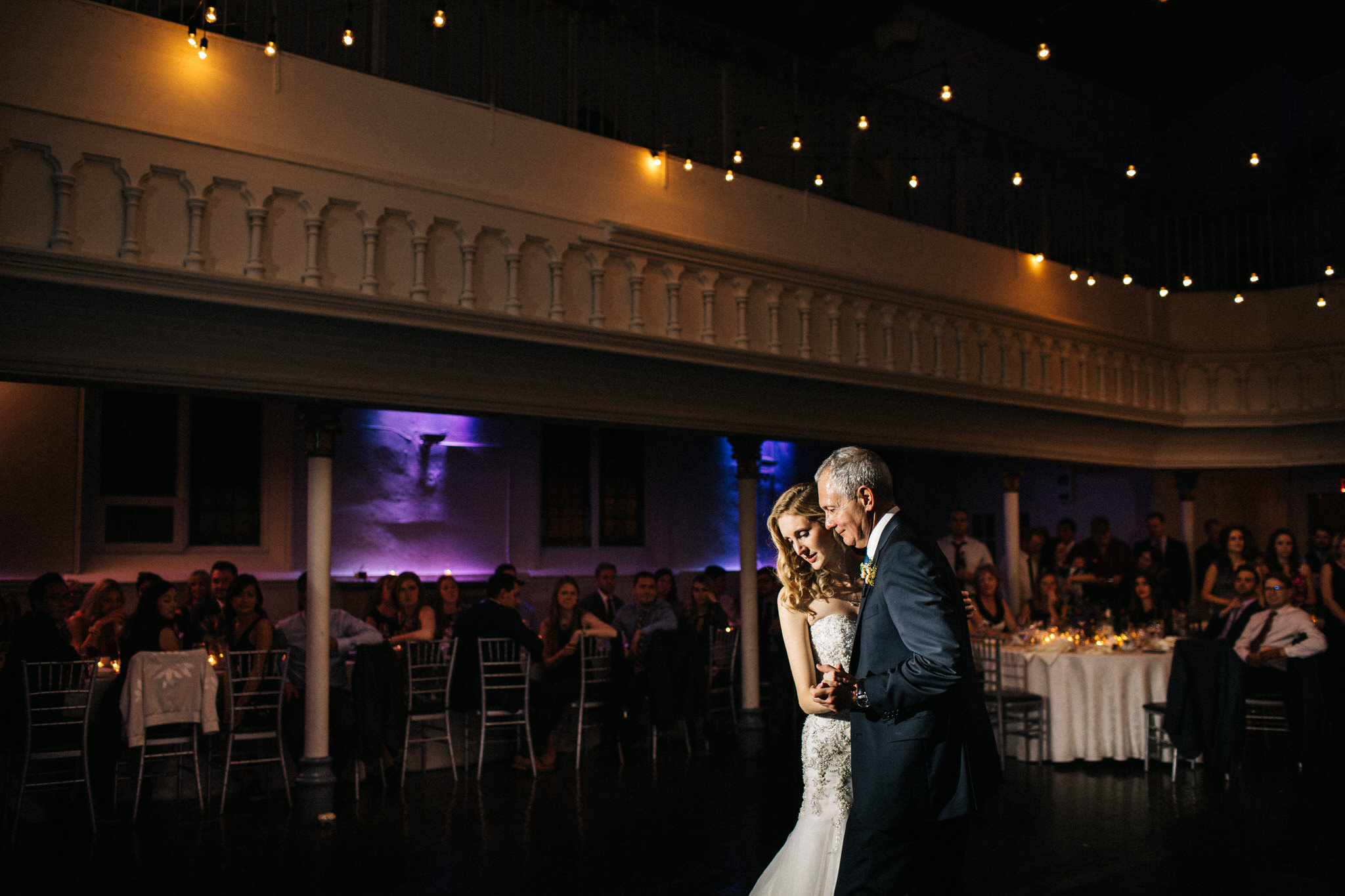father daughter dance, guest photos, berkeley church wedding, bridal portraits, toronto wedding photographer, berkeley field house, dinner berkeley church