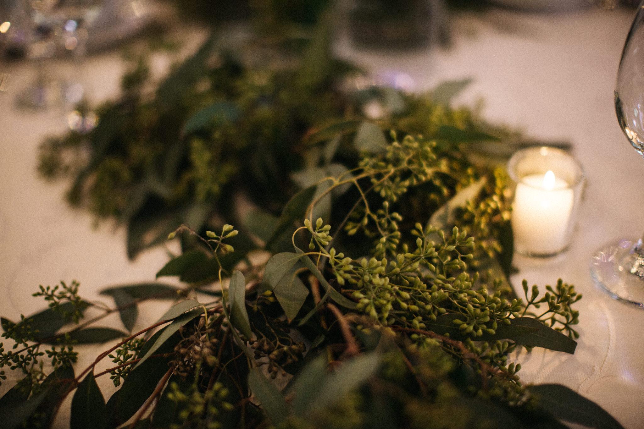 Table greenery, table decor, berkeley church wedding, toronto wedding photographer