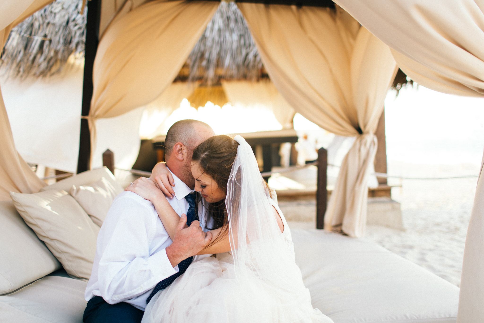 Palm tree huts, punta cana, destination wedding photographer, trash the dress