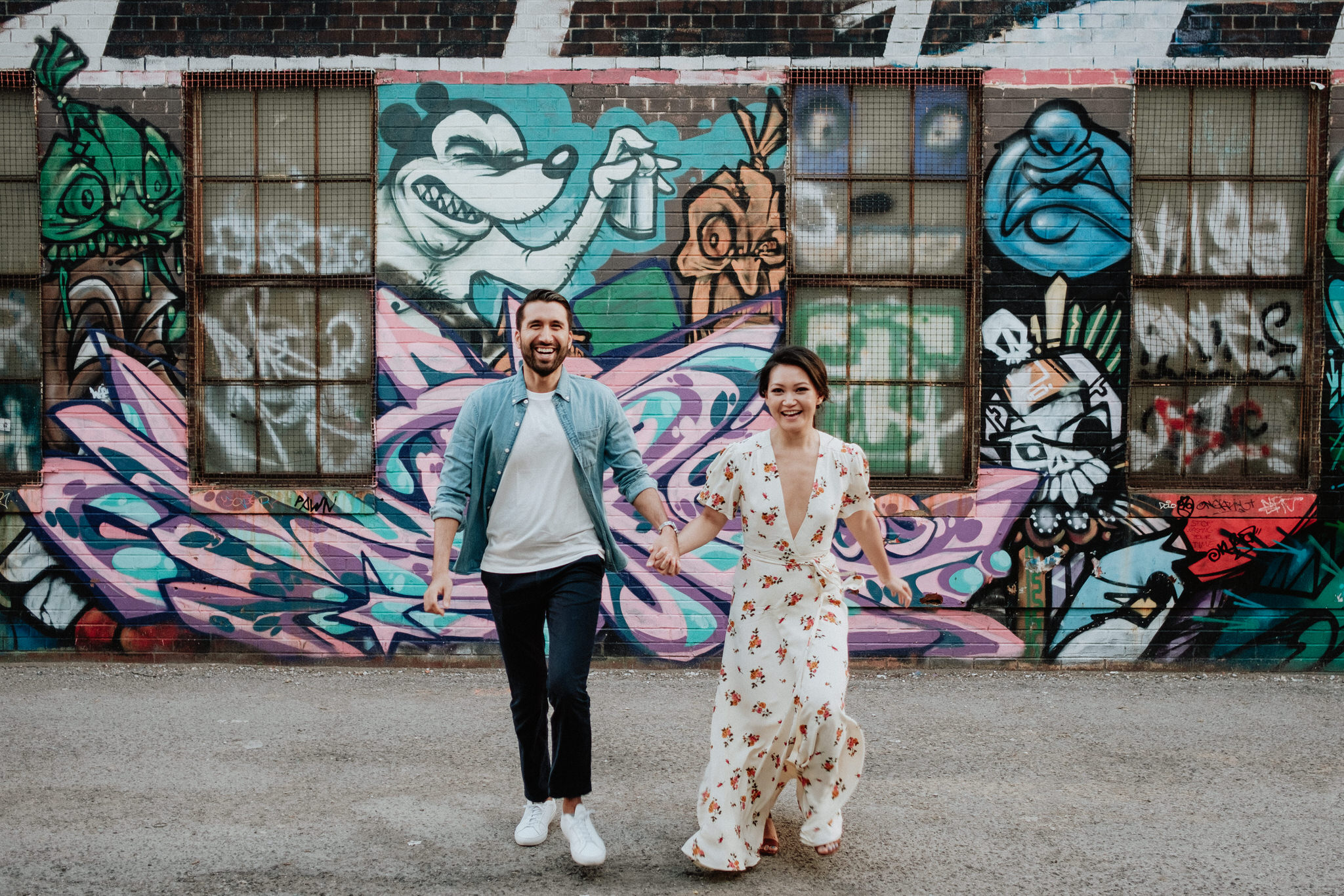 toronto engagement photos, queen street west, toronto wedding photographer, graffiti alley
