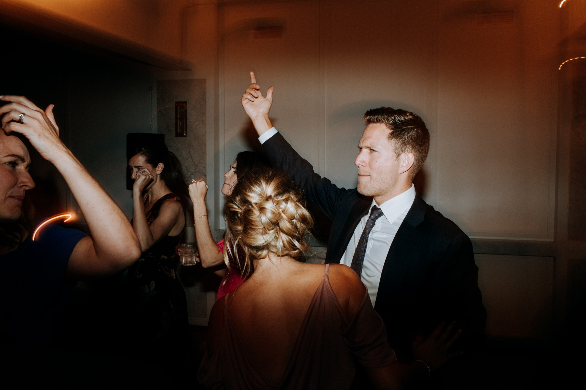 broadview hotel wedding, dance floor photos