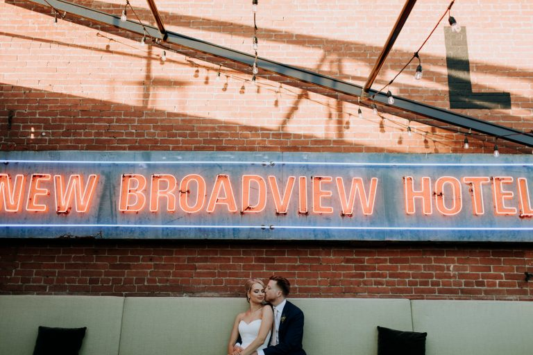 broadview hotel wedding, toronto wedding photographer, mauve bridesmaid dresses, first look, cherry beach first look