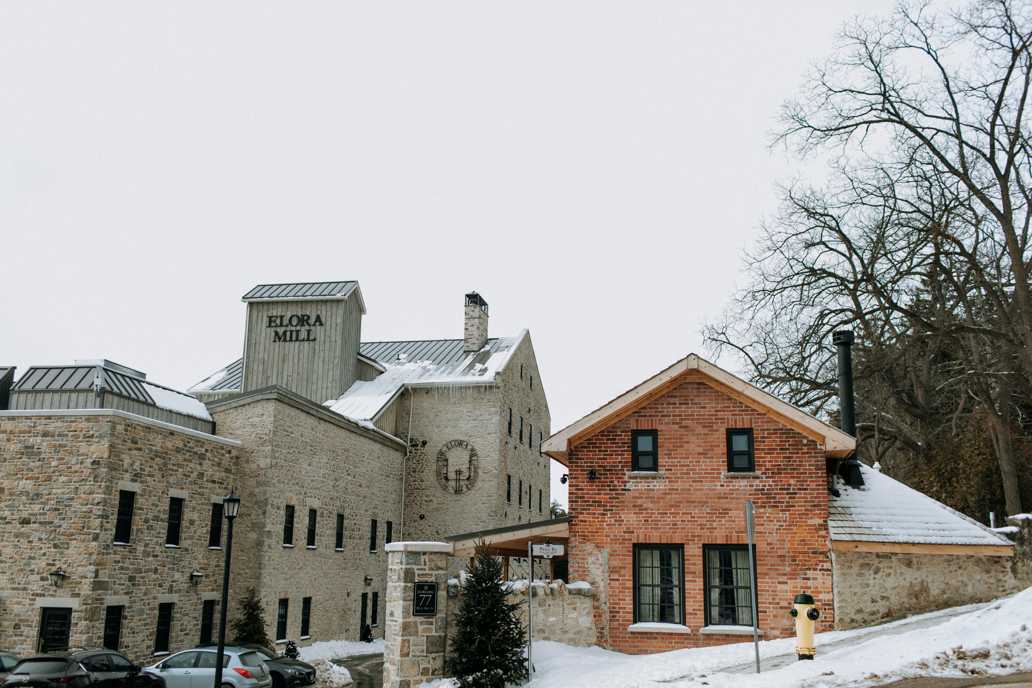 Elora Mill Wedding, Elora Mill Hotel and Spa, Winter wedding in Elora, Elora Gorge wedding