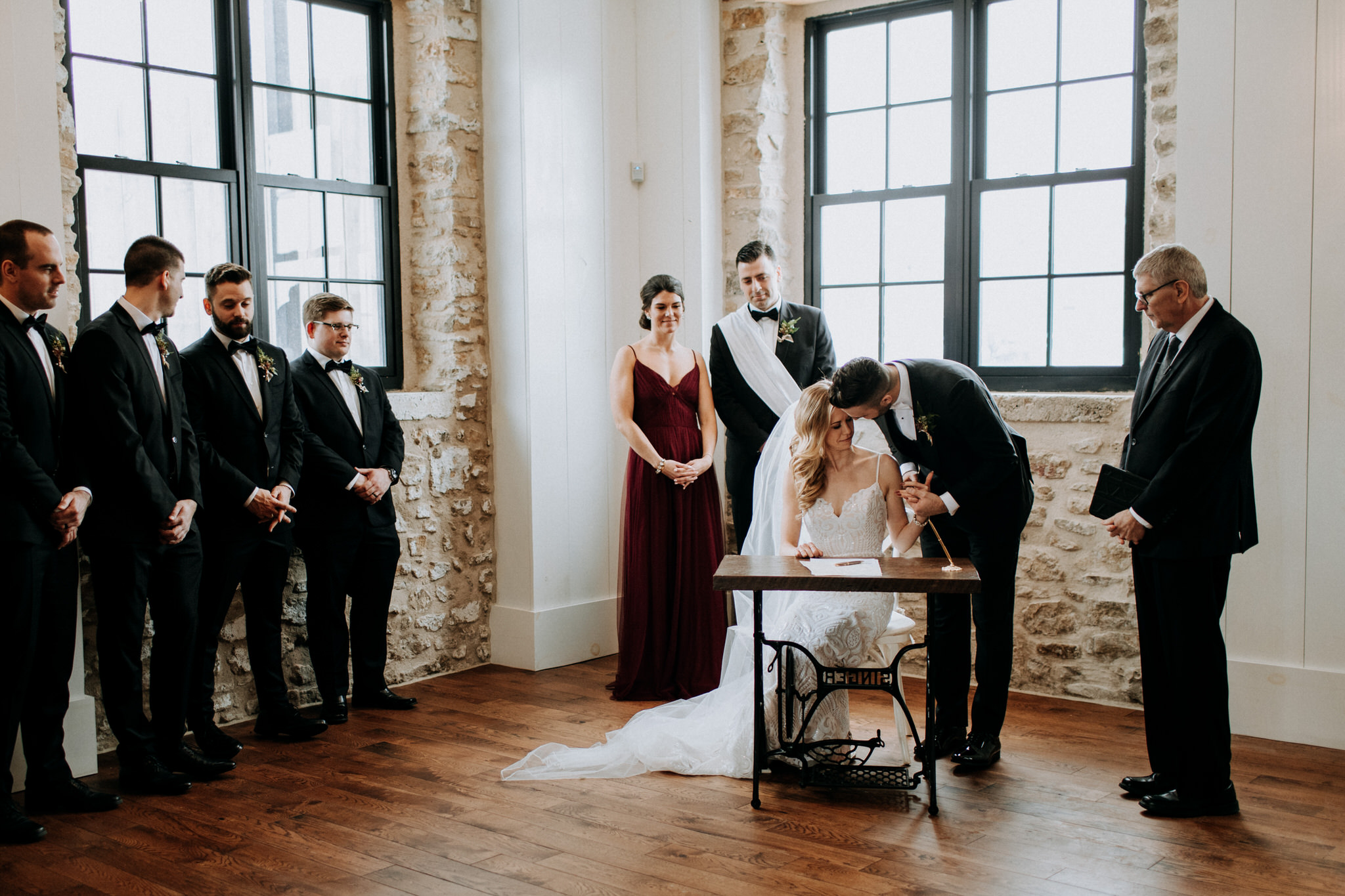 The Foundry Ceremony, Elora Mill Wedding, Elora Mill Hotel and Spa, Winter wedding in Elora, Elora Gorge wedding, James Ross House, the