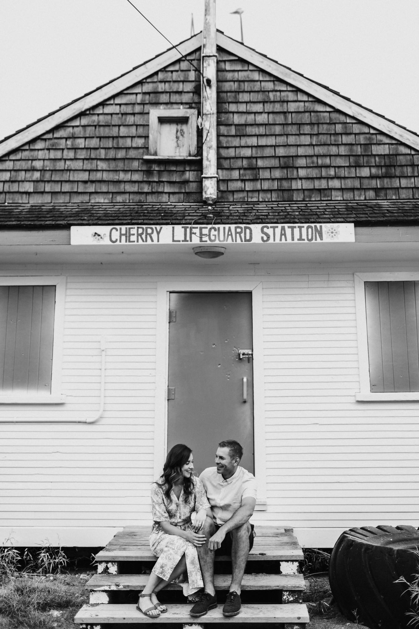 Cherry beach engagement photos