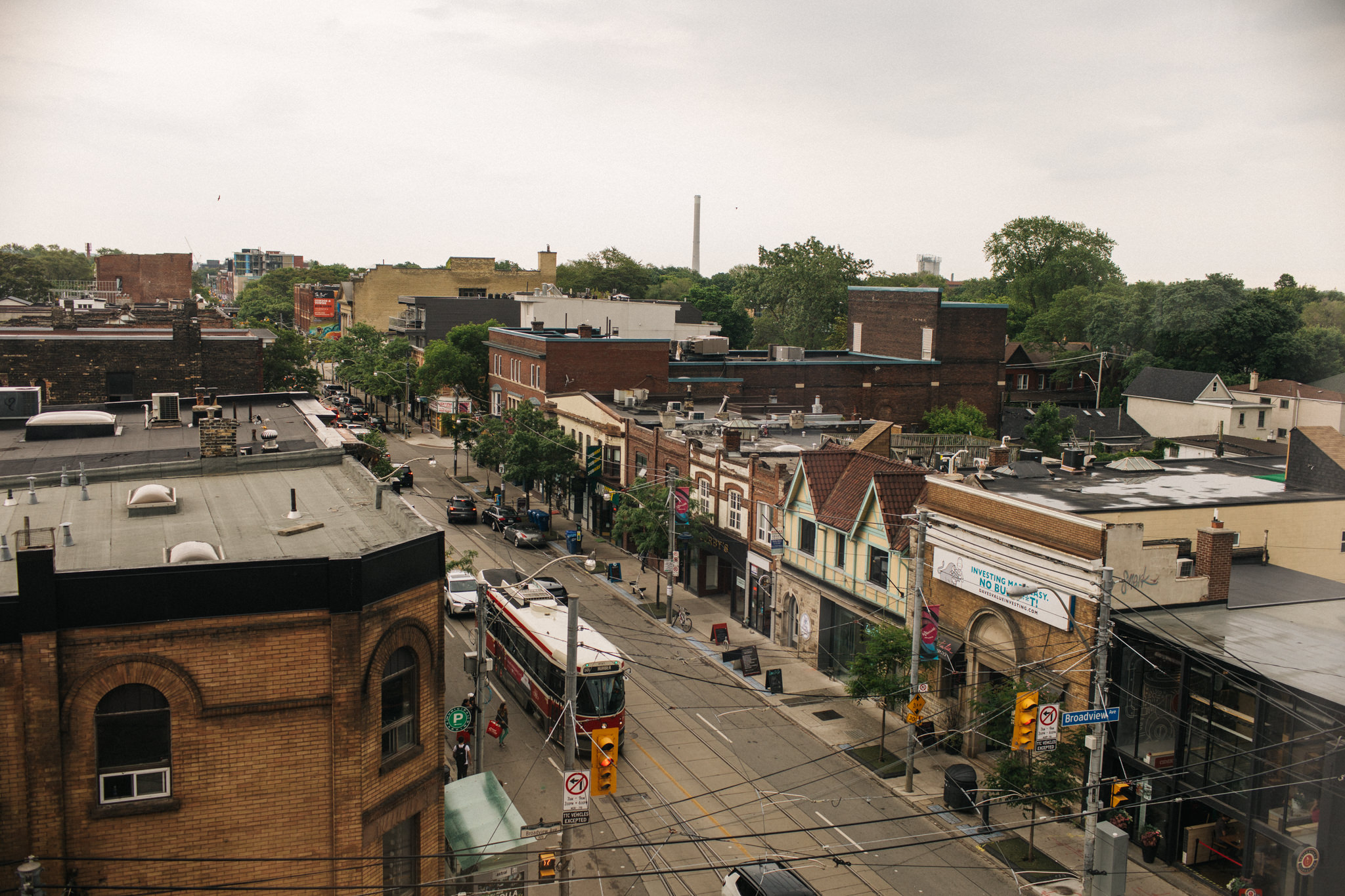 view from broadview hotel toronto